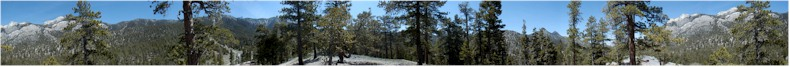"Panoramic View from the ""End of the Road"" at the Mount Charleston Skiing Resort, Nevada - May 30th 2002"