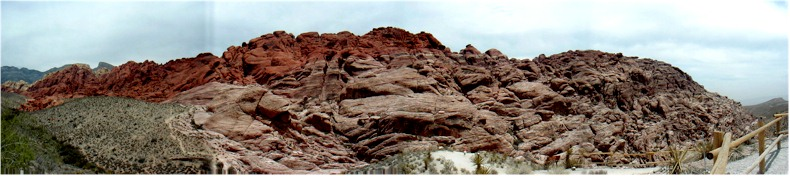 Panorama of the Calico Rocks in the Red Rock Canyon State Park, Nevada - May 31st 2002