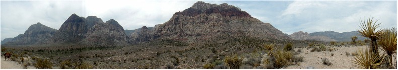 Panoramic View of the Red Rock Canyon, Nevada from the Visitor Centre.