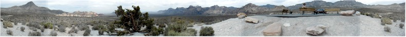 "Panoramic View from the ""High-Point"" on the Scenic Red Rock Canyon Road, Nevada - 31st May 2002"