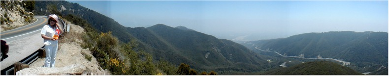 "Panoramic View from the ""Rim  of the World"" Road from San Bernardino to Crestline & Big Bear Lake - 1st June 2002"