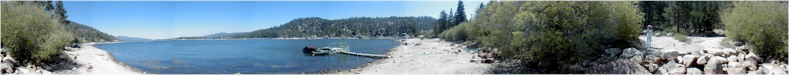 Panoramic View of the Big Bear Lake from the Western End - 1st June 2002