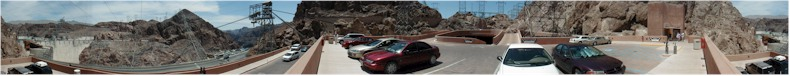 Panorama from the Hoover Dam Multi-Story Car-Park - Temperature 40C - May 2002