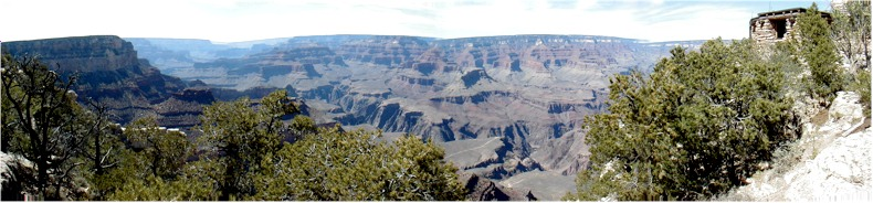 Panoramic View of the Grand Canyon from the South Rim