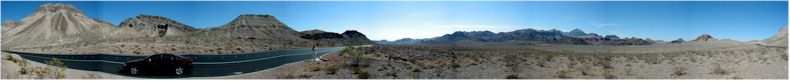 Panorama from the Desert just South of the Valley of Fire State Park - Nevada - May 2002