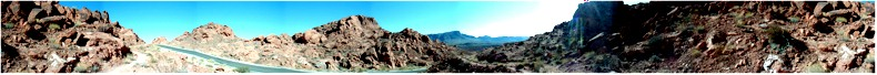Panorama from the Eastern End of the Valley of Fire State Park, Nevada - Entering the Valley from Lake Mead Road,