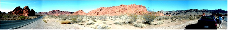 Panorama of the Valley of Fire State Park - Nevada