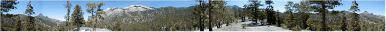Panoramic View from the Skiing Resort Road at the Northern End of Mount Charleston, Nevada - May 30th 2002