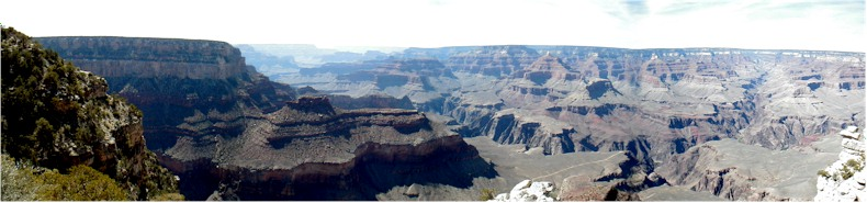 Panoramic View of the Grand Canyon from the South Rim -29th May 2002
