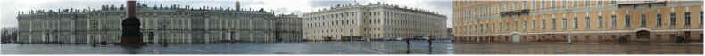 Panorama of Palace Square - St Petersburg - 15th April 2001