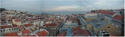 View from the Old City of Lisbon - just before sunset