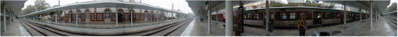 Sintra Railway Station on a wet and cloudy day