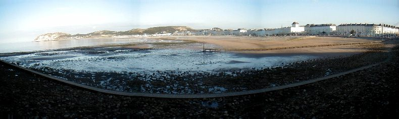 View of the Llandudno Bay from the Pier - Low Tide - July 2002