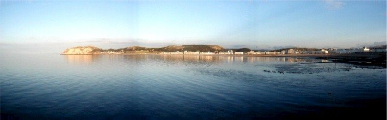 View of the Llandudno Bay from the end of the Pier - 8pm - Friday 12th July 2002