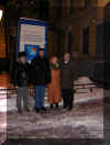 David, Gannady, Valentina and Vladimir - Outside the Geological Museum, Moscow