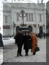 Gennady Kalabin , Tatiana Moiseenko and Valentina outside the Church of Christ Our Saviour - Moscow