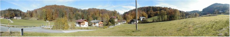 View near the Austrian Villages of Durnberg and Hallein during Autumn 2001