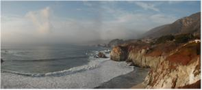 View from near Big Sur Point Lighthouse - Route 1 - Big Sur to Monterry, California