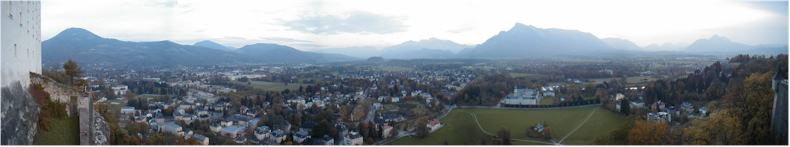 View from Salzburg Castle - HoheFestung - just before sunset,
