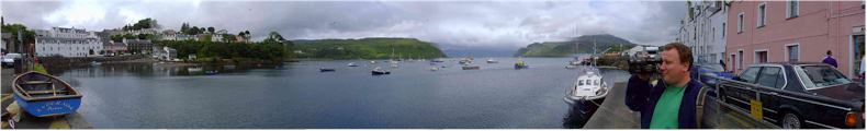 Town of Portree and Harbour, Isle of Skye, Scotland