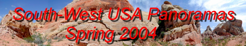 Come and see our US photo panoramas including death valley, valley of fire state park, red rock canyon, mount charleston and the cima dome near Kelso! - Springtime 2004