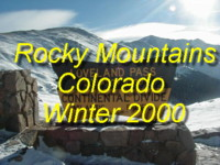 Come to the Rocky Mountains during the wintertime and drive over the famous Loveland Pass across the Continental Divide down to Leadville, Colorado!