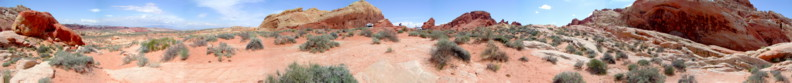 Valley of Fire State Park amongst the White Domes where the Classic Western Film - The Professionals was shot!