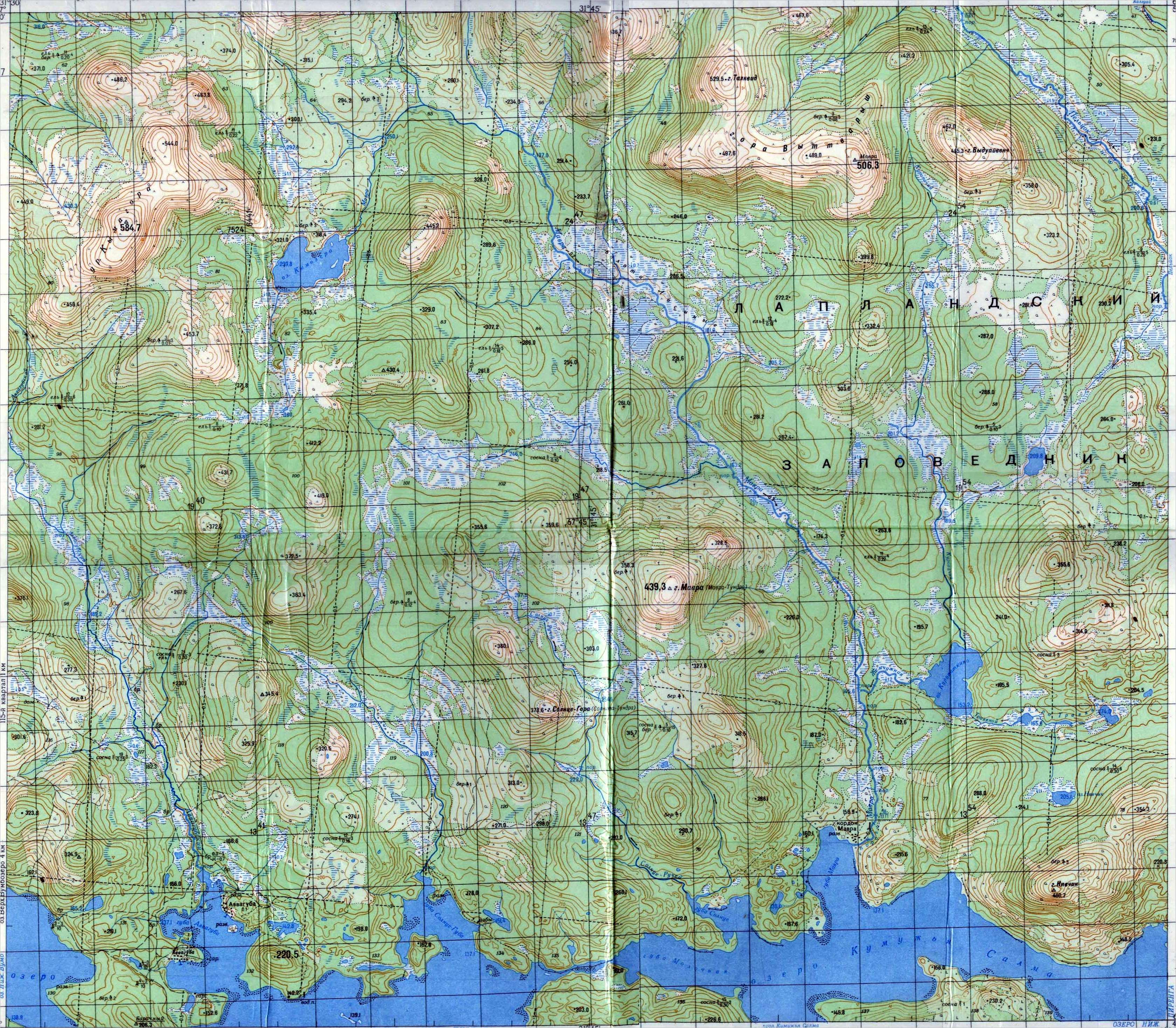 Warriors Path State Park Map: Interactive Map Of The Kola Lapland Nature Reserve (4