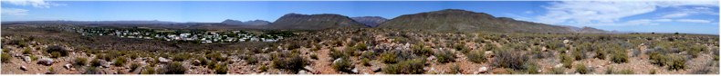 Extensive 270degree Panorama from the Koppie Trail to the West of Prince Albert Village in the Karoo