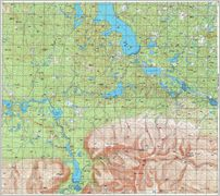 Map 7 -   оз. —имбозеро - Lake Simbozero - Click to enlarge this map to Full Size - File size is typically around 4Mbytes so please be patient!