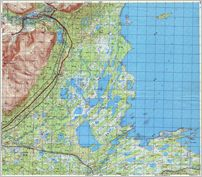 "Map 18 - зашеек на ""мбозере - South-Western  End of the Umbozero Lake  - Click to enlarge this map to Full Size - File size is typically around 4Mbytes so please be patient!"