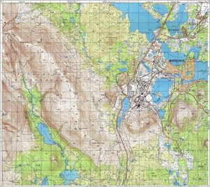 Map 23 - Мончегорск - Monchegorsk - Click to enlarge this map to Full Size - Note that typical maps are around 4MBytes so please be patient!